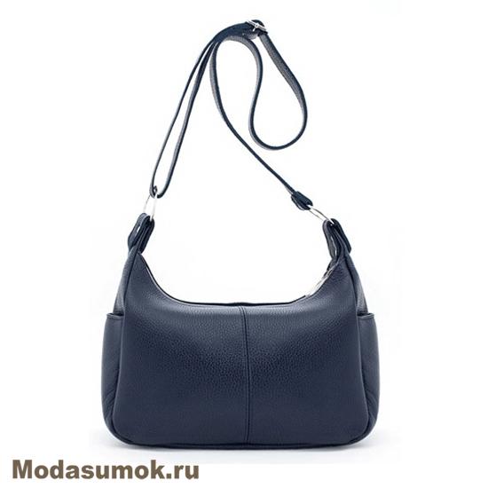 23523bd65c54 Женская сумка из натуральной кожи Protege Ц-266 синяя купить в Воронеже в  интернет-магазине Мода-Сумок